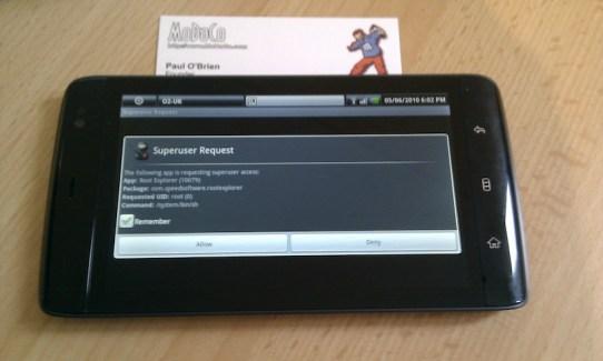 La tablette Dell Streak 5 rootée !