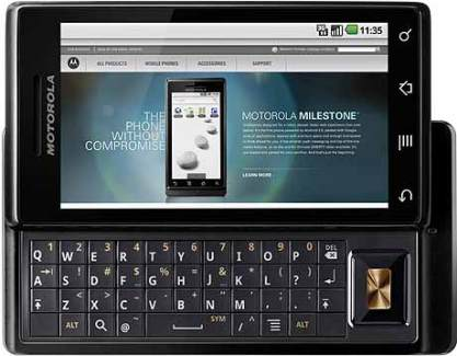 Android 2.2 (Froyo) pour le Motorola Milestone