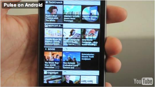 Pulse, un lecteur RSS très visuel disponible sur Android