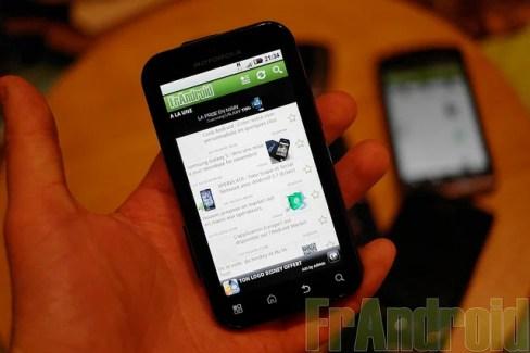 Test du Motorola Defy sous Android