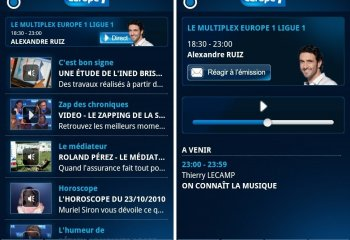 L'application Europe1 est disponible sur l'Android Market