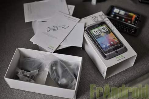 Test du HTC Desire Z sous Android