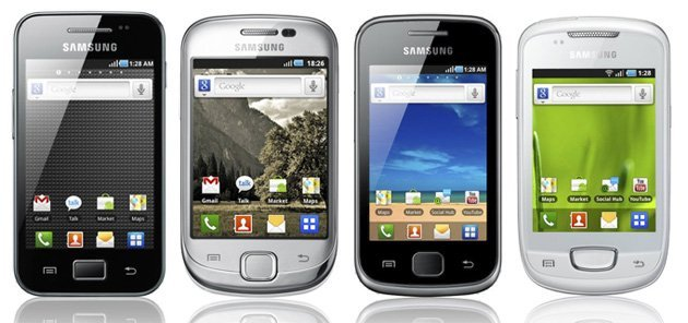Samsung expose sa nouvelle gamme de Galaxy : Ace, Fit, Gio et Mini