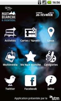 L'application officielle de la Nuit blanche de Montréal