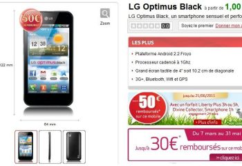 Le LG Optimus Black est disponible chez Virgin Mobile