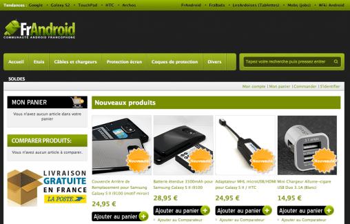 Tous vos accessoires pour le Galaxy S II sur la boutique FrAndroid : batterie, coque, câble MHL, etc.