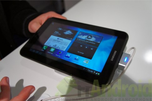 Prise en main de la tablette Samsung Galaxy Tab 2 7.0 (GT-P3100)