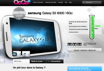 Vente flash Qoqa : Galaxy S3 à 560,5 euros !