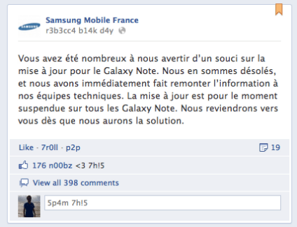 Galaxy Note : Attention à la mise à jour Ice Cream Sandwich (ICS) !