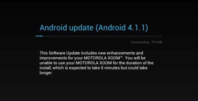 Motorola Xoom, la version WiFi US passe à Jelly Bean