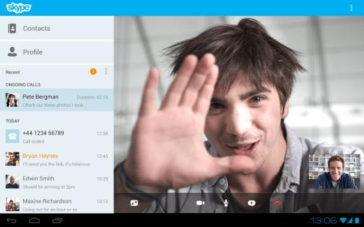Skype v3.0 – Une version optimisée pour tablettes Android