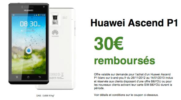 B&YOU : Des promotions et un nouveau Huawei Ascend P1