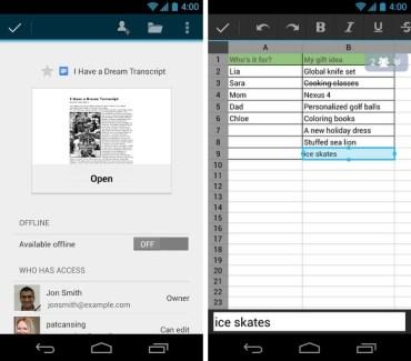 Google Drive, la mise à jour 1.1.4 est disponible sur Play Store