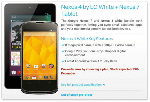 Oui, il y aura bien une version blanche du Nexus 4