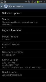 Android 4.1.2 est en cours de déploiement sur le Galaxy Note 2