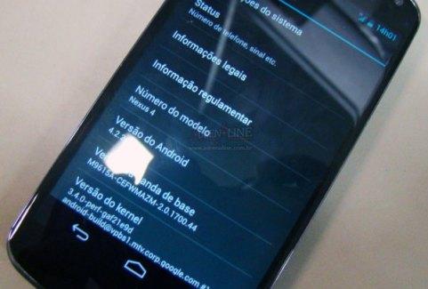 Rumeur : certains Nexus 4 déjà sous Android 4.2.2 ?