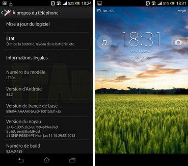 Sony Xperia T, la mise à jour d'Android 4.1 est disponible