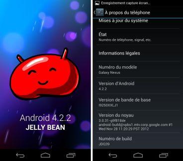 Android 4.2.2 arrive sur Galaxy Nexus, Nexus 7 et Nexus 10