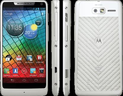 Motorola annonce le RAZR i blanc en France