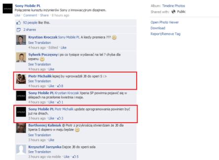 La mise à jour du Sony Xperia S vers Jelly Bean arrive dans quelques jours