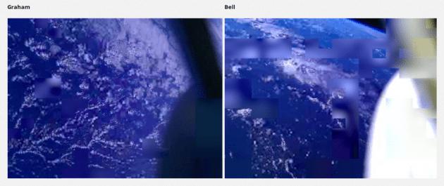 Les smartphones envoyés dans l'Espace délivrent des images floues