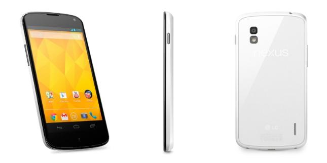 Le smartphone Nexus 4 blanc devrait bientôt être officialisé
