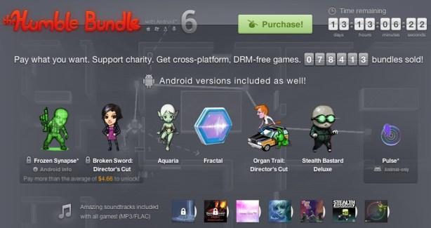 Humble Bundle for Android 6 revient avec 7 jeux !