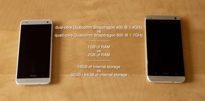 HTC One Mini vs HTC One en vidéo