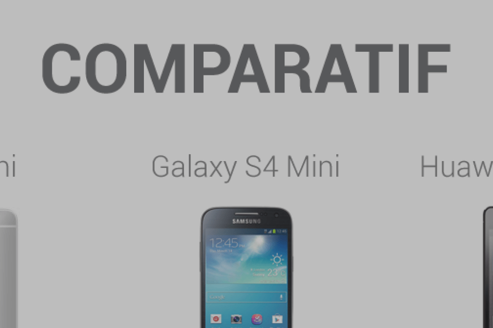 Comparatif : HTC One Mini, Samsung Galaxy S4 Mini et Huawei Ascend P6