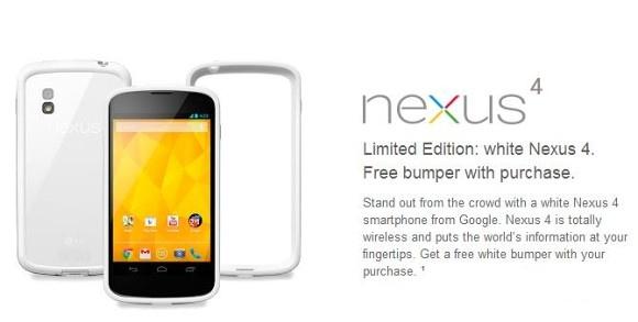 Le Nexus 4 blanc sortira chez les e-commerçants français, mais pas sur le Google Play France
