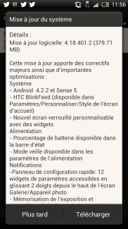HTC One X : la mise à jour Android 4.2.2 avec Sense 5 est arrivée