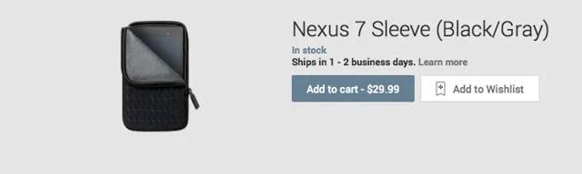 Une housse pour Nouvelle Nexus 7 disponible sur le Plays Store (US)