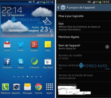 Android 4.3 Jelly Bean aperçu sur le Galaxy S4 ?