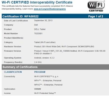 Dell Venue 8 : une prochaine tablette Dell sous Android ?