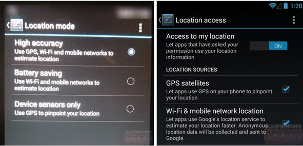 Android 4.4 KitKat : un remaniement des paramètres de localisation ?