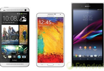 Comparatif : HTC One Max vs Galaxy Note 3 vs Xperia Z Ultra