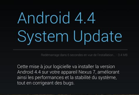 Android 4.4 «KRT16S» : drivers, images de restauration et mises à jour disponibles sur Nexus 4, Nexus 7 et Nexus 10