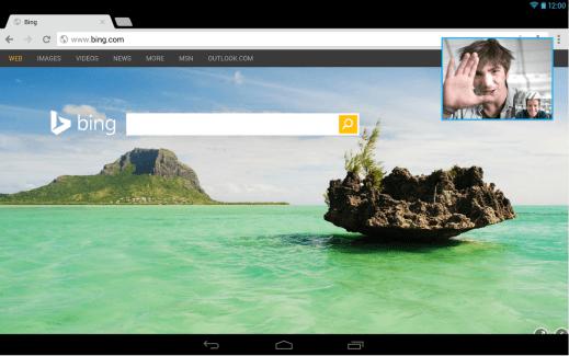 Skype en version 4.5 s'améliore pour les tablettes et supporte le multitâche