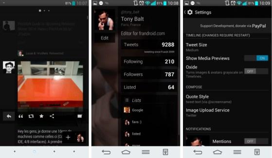Carbon 2.0.7, le client alternatif de twitter s'offre une refonte sur Android