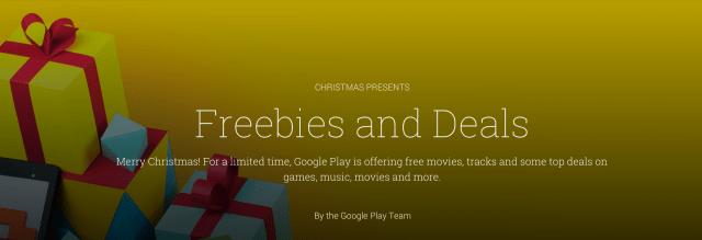 Google Play : les apps et jeux en promotion pour les fêtes de Noël