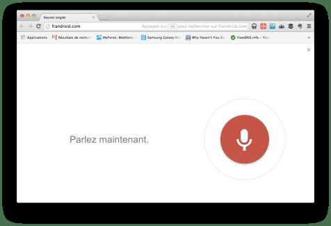 Reconnaissance vocale sur Chrome (Windows, OS X, etc.), c'est une réalité !