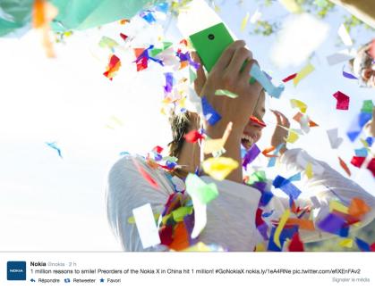 Séduite par le Nokia X, la Chine enregistre un million de précommandes
