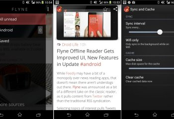 Version 1.2.4 de Flyne : le « Feedly » offline s'embellit