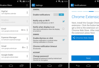 Notifications+ : les notifications de votre Android chiffrées sur Chrome