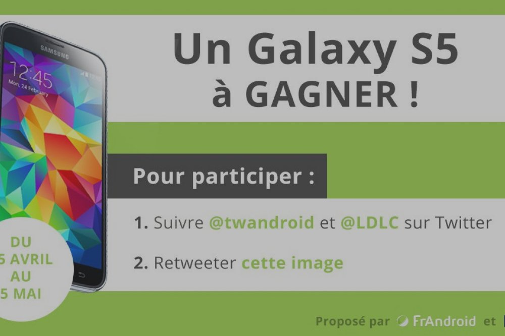 Concours : gagnez un Samsung Galaxy S5 !