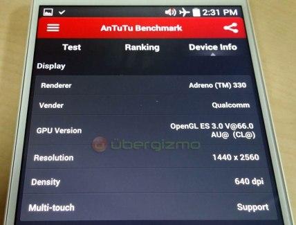LG G3 : une fuite montre son écran QHD sur AnTuTu