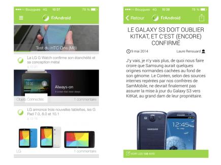 FrAndroid est disponible sur iPhone et iPad