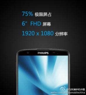Philips prépare le I928, un puissant smartphone équipé d'un écran de 6 pouces