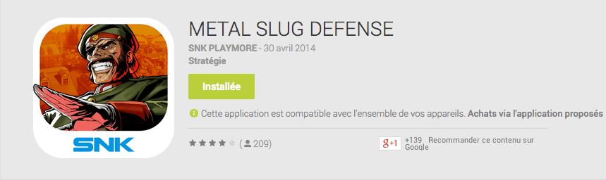 Metal Slug Defense : le nouveau Tower Offense Defense attaque le Google Play