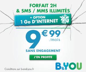 B&You : un forfait 4G à 10 euros en série limitée pour l'été !